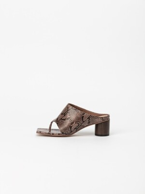Octavie Thong Mules in Pinky Sand Lizard