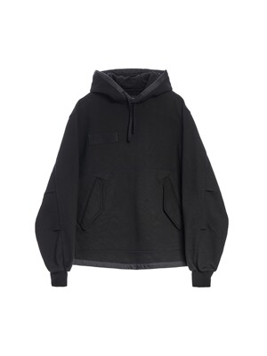 FISHTAIL HOODED SWEATSHIRT / BLACK