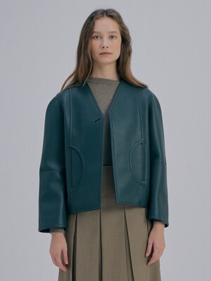 Eco Leather Jacket_Green