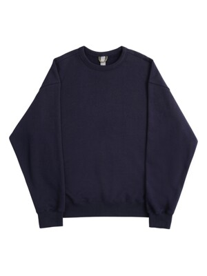 LOGO LABEL SWEATSHIRT / NAVY