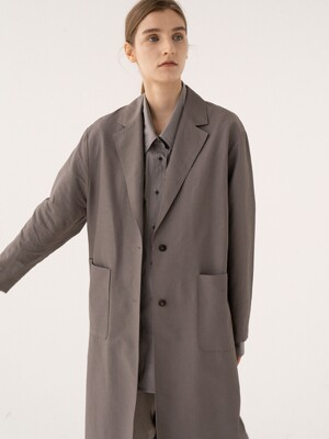 SS21 Long Single Coat Dark-iron