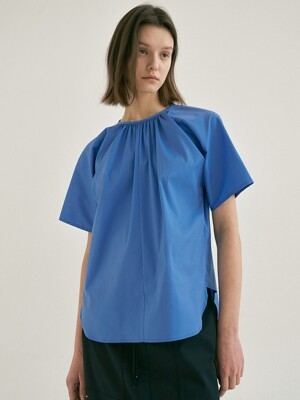 POPLIN GUSSET BLOUSE (2colors)