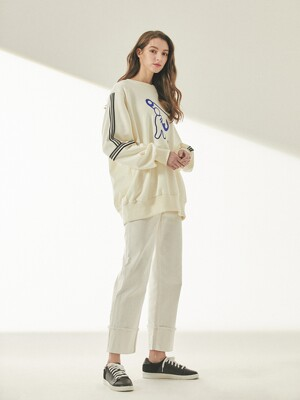 EMBROIDERY SWEAT SHIRT OSSSH-148-IV
