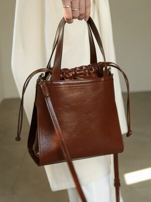 LINK BUCKET BAG_BROWN