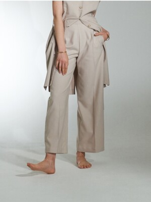 BASIC WIDE FIT TROUSER