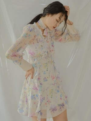 Plumblossom Dress [White]