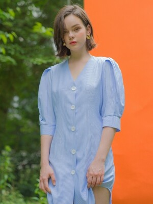 Line St Shirt Dress Sky