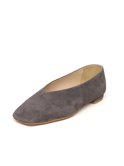 Db flats (charcoal gray suede)