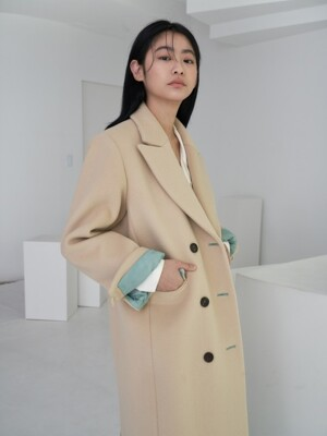 wool tailored coat_warm beige