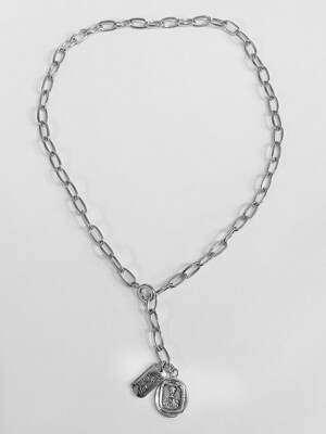 Vase 2way necklace (Silver)