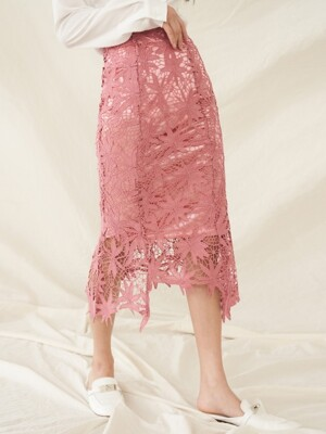 SENTIMENTAL SKIRT DEEP PINK
