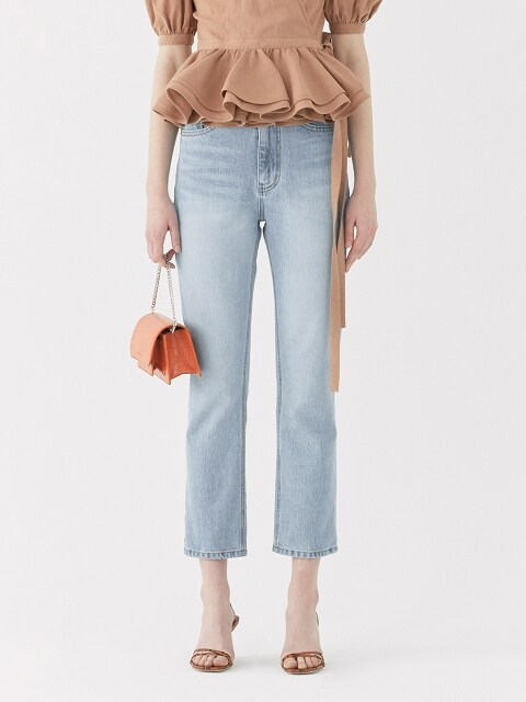 19SS HIGH-WAISTED STRAIGHT-FIT JEANS