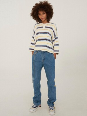 Tapered-333 Child jean Yellow