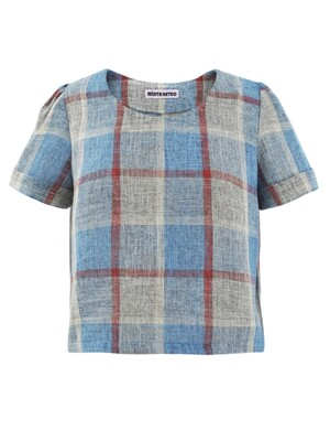 Summer Linen Check Top [Limited Edition]