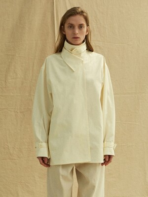 19FW DOUBLE COLLAR SHIRTS - CREAM