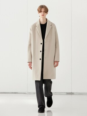 WOOL SINGLE COAT_CREAM