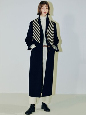 Clo best seller long coat dark navy