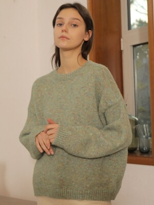 COLORMIX PULLOVER WOOL KNIT_MINT
