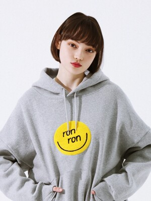 SMILE BOUCLE HOODIE GRAY
