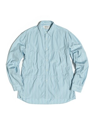 UTILITY SHIRT / BLUE WHITE STRIPE