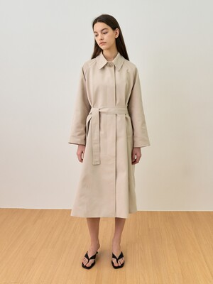 comos'497 Single Trenchcoat (light Gray)