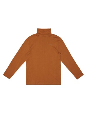 SOLID TURTLENECK TEE (BROWN)