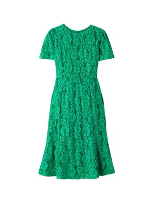 PRINCESS LINE LACE DRESS_GREEN