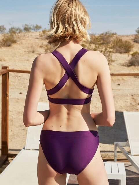 CROSS BACK SWIM TOP_VIOLET