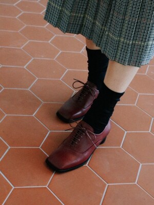 Square oxford Burgundy