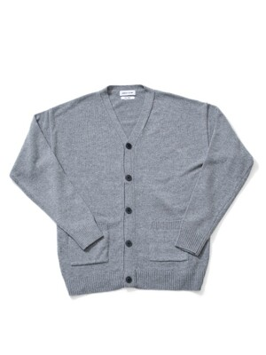 Cash Blending Oversize Y-Cardigan - Grey