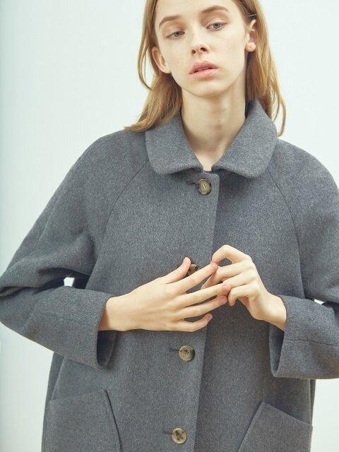 Wool mac coat (Charcoal gray)