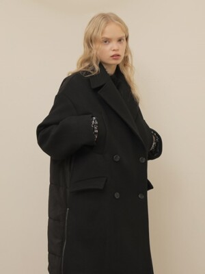 BACK DOWN DOUBLE COAT_BLACK
