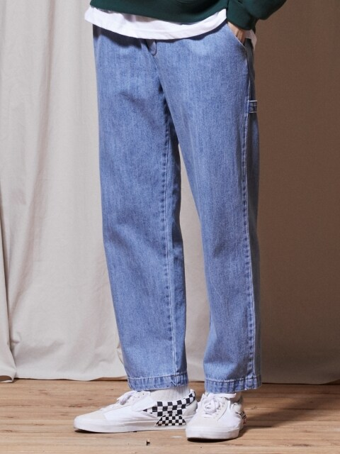 PL058_UBDTY Denim Banding Pants_Light Blue