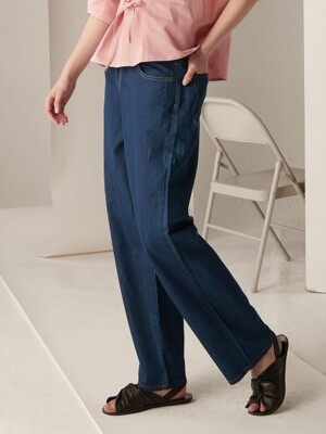 Tencel wide denim - Deep blue