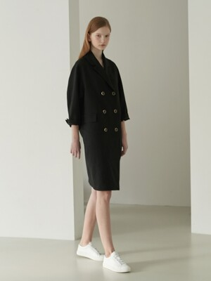 Linen one-piece jacket [BK]