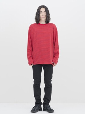 Reversible L/S T-Shirt (Red Stripe)