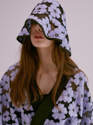 FLOWER EMBROIDERY LACE BUCKET HAT_2COLOR