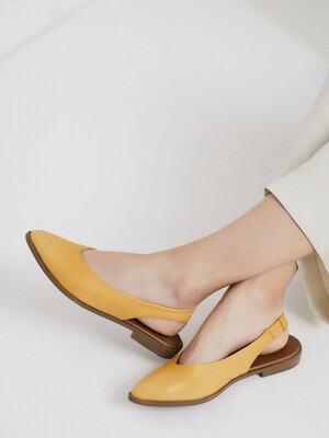 LEATHER SLINGBACKS_SAFFRON YELLOW