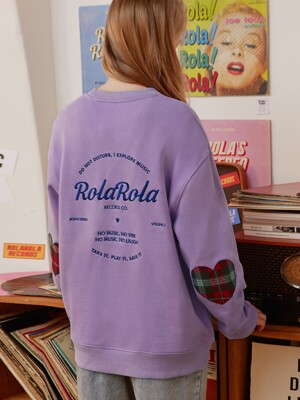 (TS-19522) CHECK PATCH SWEATSHIRT LAVENDER