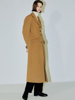 Clo best seller long coat dark CAMEL