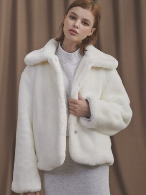19 BIG COLLAR FUR JK [WHITE]