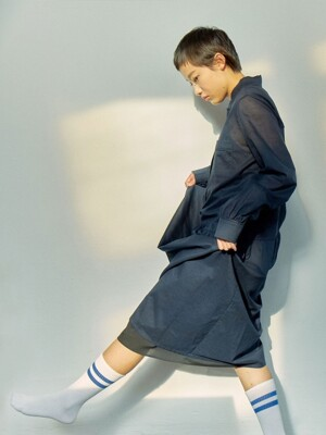 CHOU CHOU DRESS - NAVY