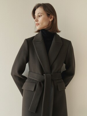 Classic belted long coat (5colors)