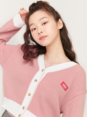SOFT CROP CARDIGAN_pink