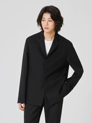 [UNISEX] ANDER Wool 3-Button Jacket_Black (Set-up)