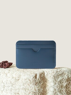 Pebble Card Wallet Deep Blue