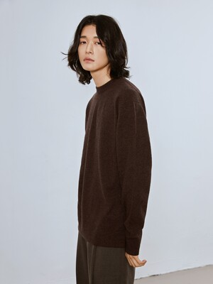 RAMIAN SEF Merino Wool Round Knit_Brown