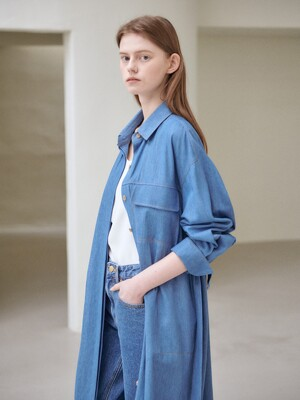 21SN two-way shirts outer [BL]