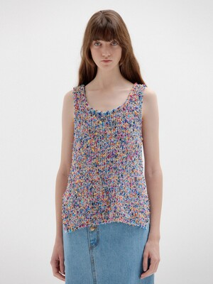 SKY Sleeveless Knit Top - Purple Multi