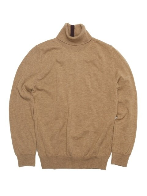 [UNISEX]  WOOL100 TURTLENECK SWEATER [BEIGE]